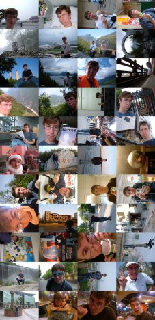 I tiled a bunch of pictures together of myself from over this past year.