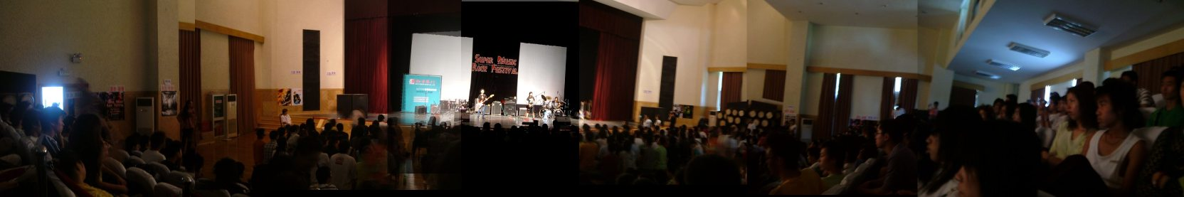 The venue was huge.