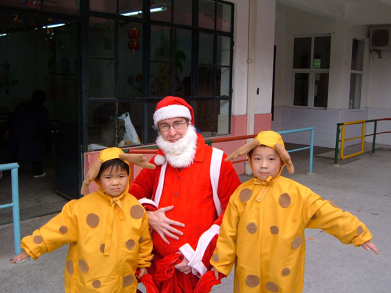 I dressed up as Santa Claus... and enjoyed it!