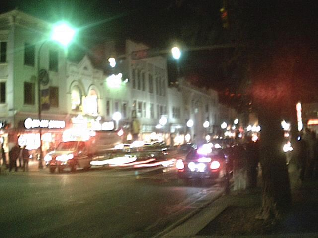 There were a bunch of cop cars and automobiles at the intersection of State and Williams this Friday night.