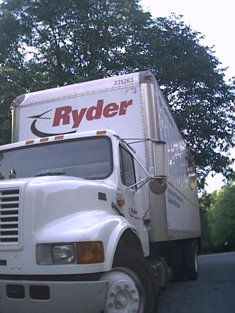 We took a twenty-four foot Ryder truck.
