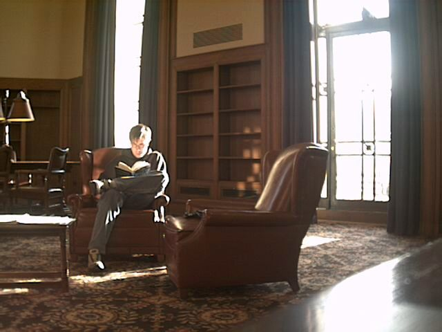 The south study room in Rackham was fabulous today, I had been studying in the main room with John Yim but I kept getting tired.  Turns out, a sunny room does a great job keeping me awake.